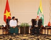Vietnam - Myanmar : resserrement des liens entre le PCV et des Partis birmans