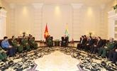 Nguyên Phu Trong reçoit le commandant suprême des forces armées birmanes