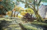 Exposition de peintures sur papier sur Hanoï