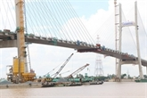 Dông Thap : raccordement du pont Cao Lanh sur le fleuve Tiên