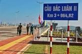 Inauguration d'un pont Vietnam - Chine à Quang Ninh