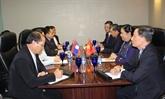 AIPA-38 : Tong Thi Phong rencontre des dirigeants de l'AN de trois pays
