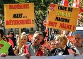 Les opposants à la réforme du Code du travail à nouveau dans la rue