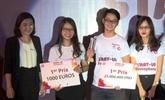L'équipe TrueStack, gagnante du concours de start-up francophone