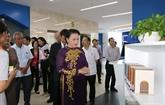 La présidente de l'Assemblée nationale visite l'Université Tôn Duc Thang
