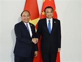 Le Premier ministre vietnamien rencontre son homologue chinois