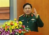 Une délégation militaire de haut niveau vietnamienne en visite au Laos