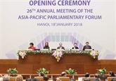 APPF-26 : les délégations livrent leurs premières impressions