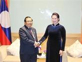 La présidente de l'AN reçoit des parlementaires marocain, lao et japonais