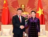 La présidente de l'AN reçoit le vice-président de l'Assemblée populaire nationale de Chine