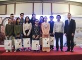 Remise des prix du concours de création de logo à Hanoï