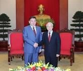Le leader du PCV reçoit le président de l'Assemblée nationale mongole