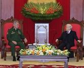 Le secrétaire général du PCV reçoit le ministre russe de la Défense