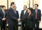 Le président Trân Dai Quang reçoit l'ambassadrice de Singapour au Vietnam