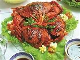 Crabes sautés au sel