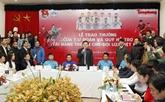 L'Union de la jeunesse communiste récompense des membres de la sélection U23