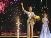 Une jeune fille de l'ethnie Êde sacrée Miss Univers Vietnam 2017