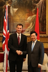 Activités du vice-Premier ministre Pham Binh Minh au Royaume-Uni