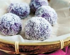 Gâteau à la patate douce violette