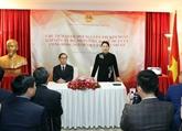 La présidente de l'AN, Nguyên Thi Kim Ngân, visite l'ambassade du Vietnam en Turquie