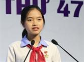 Une élève vietnamienne remporte le 3e prix du concours de composition épistolaire de l'UPU