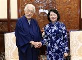 Le chef d'une école de la cérémonie du thé japonaise reçu à Hanoï