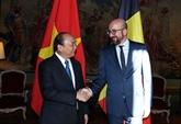 Le Premier ministre Nguyên Xuân Phuc arrive à Bruxelles