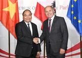 Entrevue entre Nguyên Xuân Phuc et le président du Conseil national autrichien