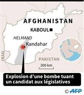 Afghanistan: un dixième candidat aux législatives tué par une bombe