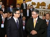 Le vice-PM Vu Duc Dam reçoit les chefs des délégations de l'AMMD-6