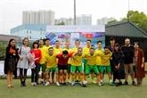 Tournoi de football amical à l'occasion des 45 ans des relations diplomatiques Vietnam - Australie