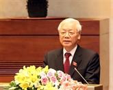 Des dirigeants étrangers félicitent le président du Vietnam, Nguyên Phu Trong