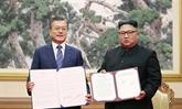 La Déclaration de Pyongyang signée lors du 3e Sommet Moon-Kim est approuvée