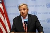 Guterres appelle tous ceux qui oeuvrent pour les Nations unies à ne jamais baisser les bras