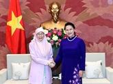 La présidente de l'AN reçoit la vice-PM malaisienne Wan Ismail