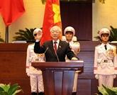 Poursuite des félicitations au président vietnamien Nguyên Phu Trong