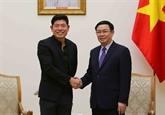 Le directeur exécutif de Grab, Anthony Tan, reçu à Hanoï
