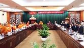 Une délégation bouddhique thaïlandaise reçue par des dirigeants de Hô Chi Minh-Ville
