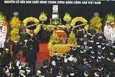 Plus de 1.500 délégations rendent hommage à l'ancien secrétaire général du PCV, Dô Muoi