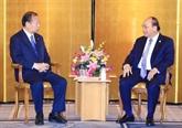 Le PM Nguyên Xuân Phuc rencontre le président de l'Alliance parlementaire d'amitié Japon - Vietnam