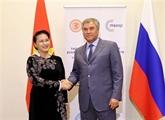 La présidente de l'AN rencontre le président de la Douma d'État de Russie