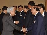 Des dirigeants de cinq pays du Mékong rencontrent l'Empereur et le prince du Japon