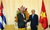 Entrevue entre le dirigeant cubain et le secrétaire du Comité du Parti de HCM-Ville
