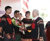 Nguyên Phu Trong à la Fête de la grande union nationale à Dak Lak