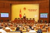 La 4e semaine de travail de la 6e session de l'Assemblée nationale (XIVelégislature)