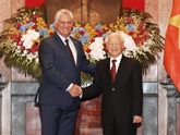 Entretien entre Nguyên Phu Trong et Miguel Mario Diaz Canel Bermudez