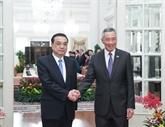 La Chine et Singapour améliorent leur accord de libre-échange