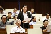 L'Assemblée nationale discute des questions d'intérêt public