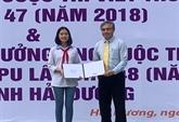 Remise du 3e prix du concours de composition épistolaire de l'UPU