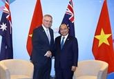Rencontre entre les Premiers ministres vietnamien etaustralien à Singapour